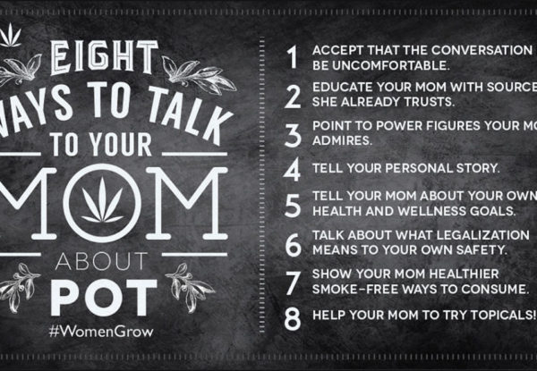 Women Grow Eight ways to talk to your mom about pot