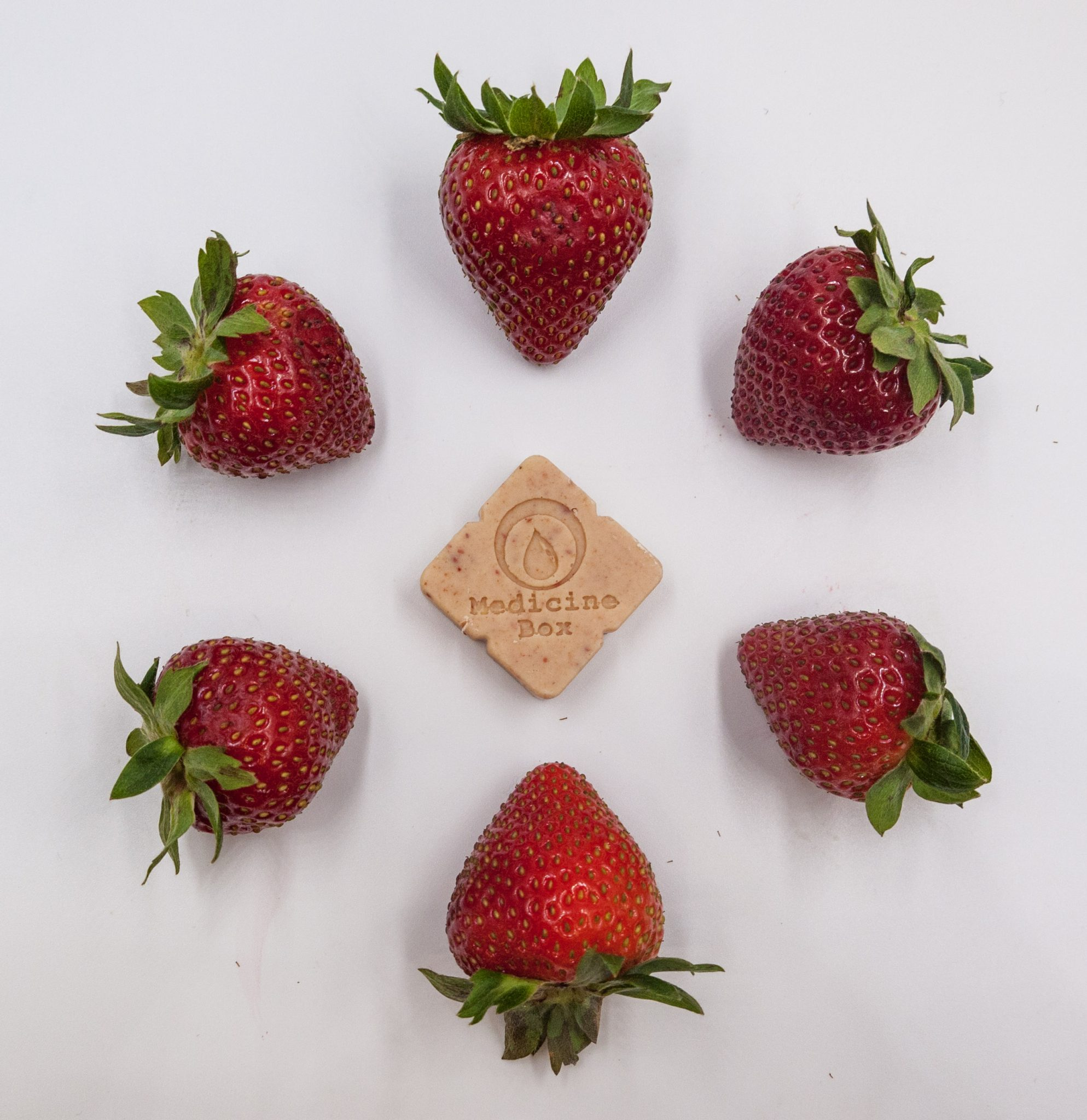 Strawberry truffles from our previous edibles line