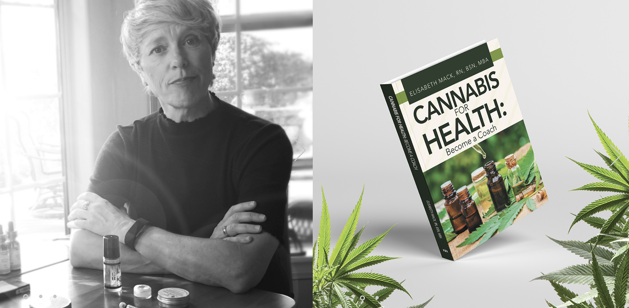 "Elizabeth Mack and her book ""Cannabis for health: Become a coach"""