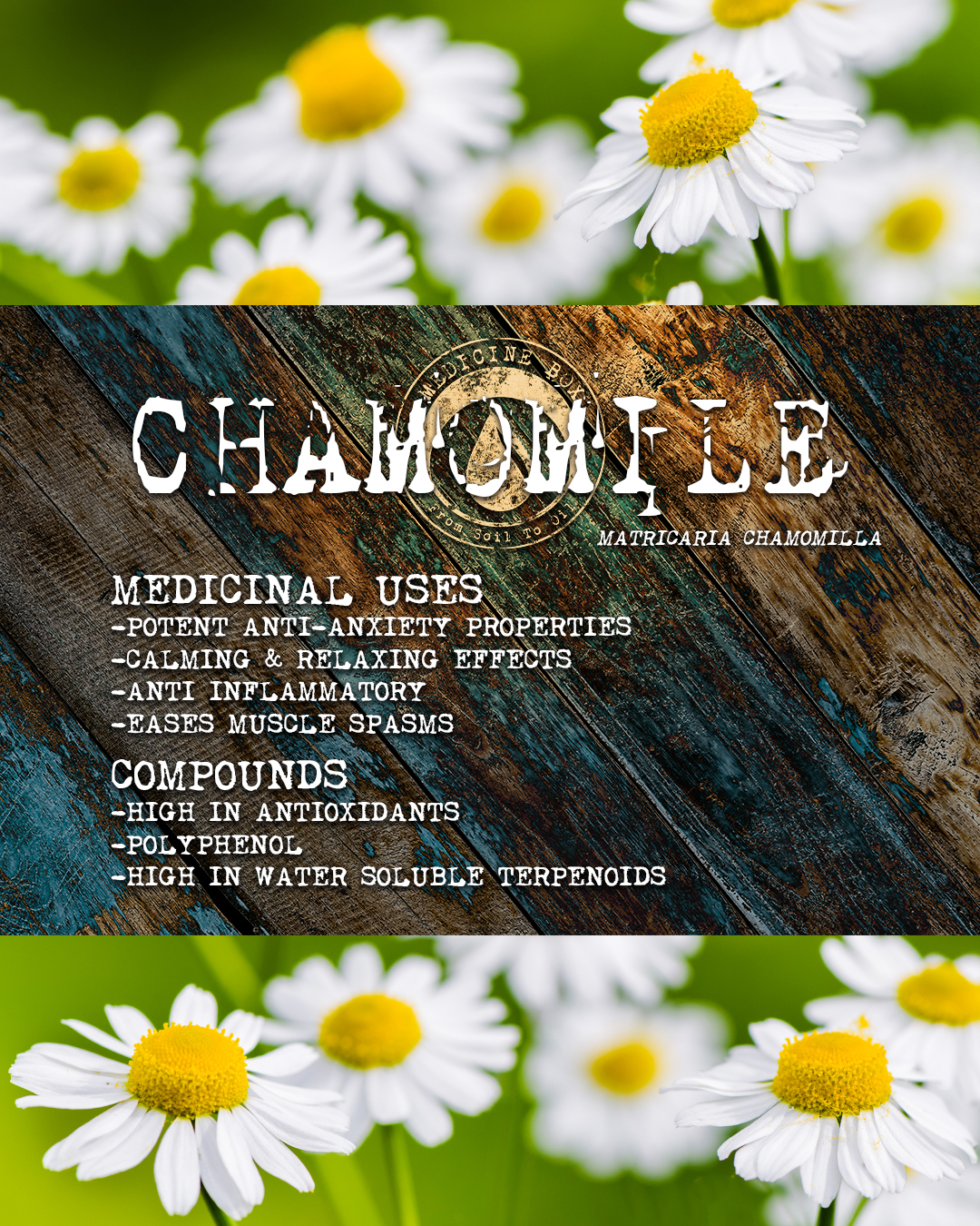 Equanimity cannabis tincture ingredients: chamomile