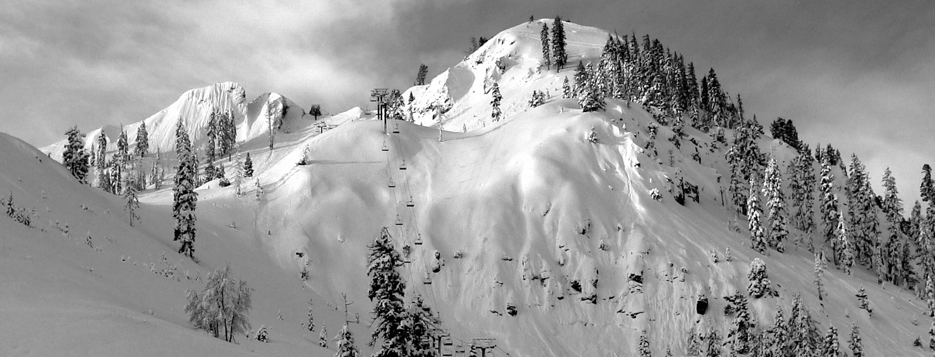 the slopes of Squaw Valley