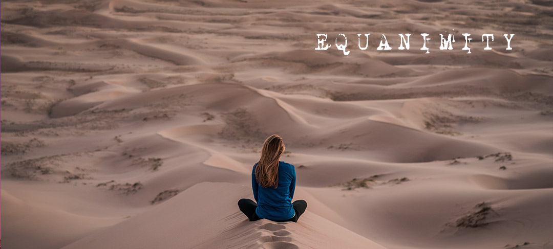 girl in the desert - get a balanced life with equanimity