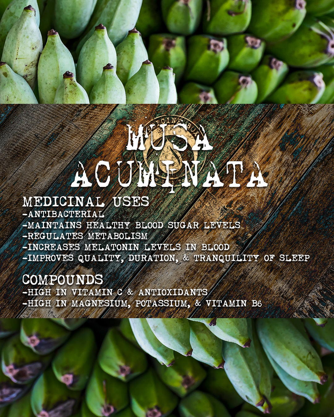 cannabis tincture ingredient: musa acuminata